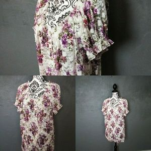 White lacy floral blouse (N2)